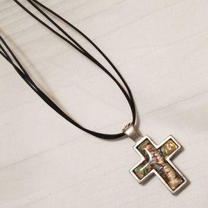 Cookie Lee Reversible Cross Necklace